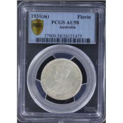 1931 Florin PCGS AU58