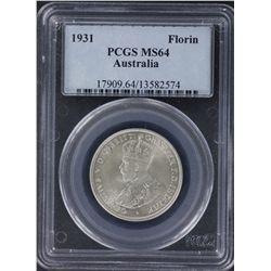1931 Florin PCGS MS64