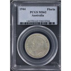 1943 & 1944 Florins PCGS MS62
