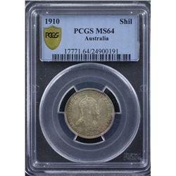 1910 Shilling PCGS MS64
