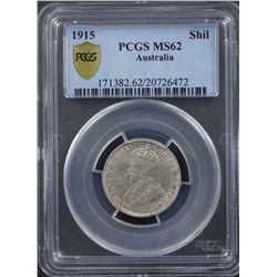 1915 Shilling PCGS MS62