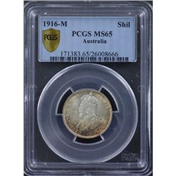 1916 Shilling PCGS MS65