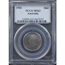 1926 Shilling PCGS MS63