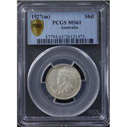1927 Shilling PCGS MS61