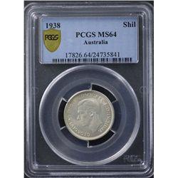 1938 Shilling PCGS MS64