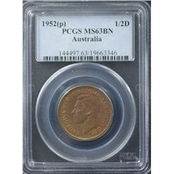 1952P ½ Penny PCGS MS63 Brown
