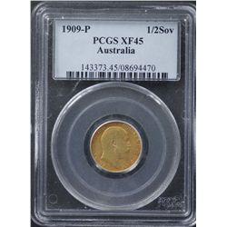 1909P Half Sovereign PCGS XF45