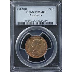 1963 Half Penny PR66 Red