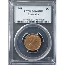 1968 2 Cents MS 64 Red