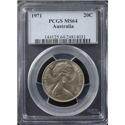 1971 20 Cents PCGS MS64
