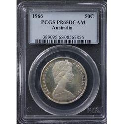 1966 50c PCGS PR65 DCAM