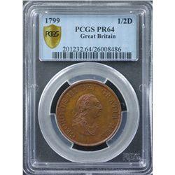 Great Britain 1799 Half Penny