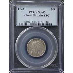 Great Britain 1723 Sixpence