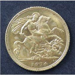 1914 S Half Sovereign