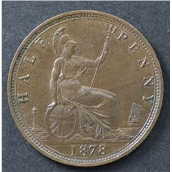Great Britain 1875 ½ Penny