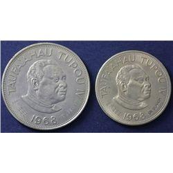 Tonga 2 Coin Set