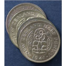 New Zealand ½ Pennies