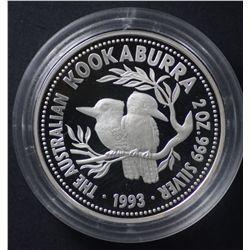 Perth Mint 1993 2 OZ Proof