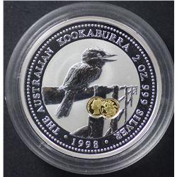 Perth Mint 2 oz Kookaburra 1998