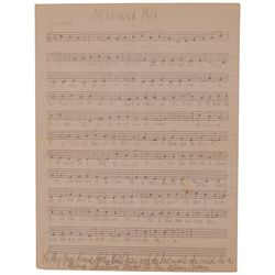 Al Capone Musical Manuscript
