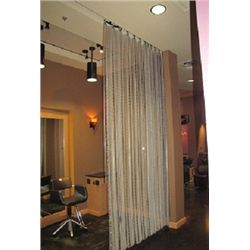 6 FOOT METAL CURTAINS (QTY 2)