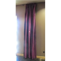 (4) PURPLE & (4) GOLD COLORED DRAPES