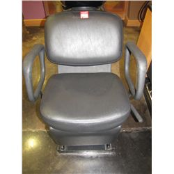BELVEDERE SOFT FEEL BLACK RECLINING WASH CHAIR WITH TRANQIL-EASE MASSAGE; SERIAL K11298