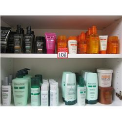 LOT CONTENTS OF CABINET - KERASTASE HAIR PRODUCTS