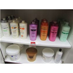 LOT CONTENTS OF CABINET - KERASTASE & MIZANI HAIR PRODUCTS