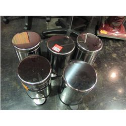 STAINLESS STEEL TRASH CAN (QTY 5)