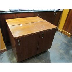 SINGLE DOOR WOOD CABINET