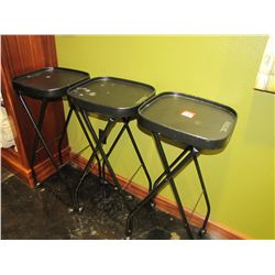 ROLL AROUND TRAY STANDS (QTY 3)