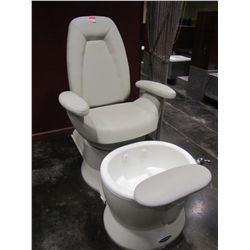 BELVEDERE WHIRLPOOL PEDICURE SPA CHAIR MODEL 101907-1242; 1/8 HP WITH MIRAGE TUB (WHITE)