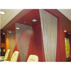 METAL BEADED DRAPES (QTY 3)