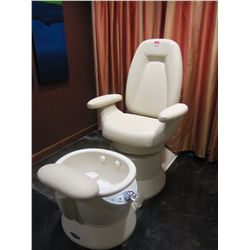 BELVEDERE WHIRLPOOL PEDICURE SPA CHAIR MODEL 101907-1243; 1/8 HP WITH MIRAGE TUB (WHITE)