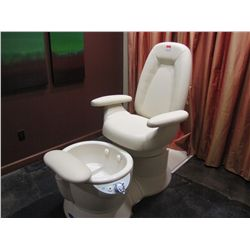 BELVEDERE WHIRLPOOL PEDICURE SPA CHAIR MODEL 101907-1244; 1/8 HP WITH MIRAGE TUB (WHITE)
