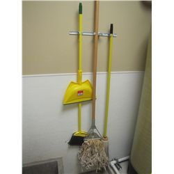 LOT MOP; IRONINGBOARD & BROOM