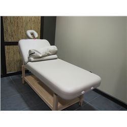 OAKWORKS MASSAGE TABLE WITH HEADREST & PILLOW