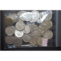 US Silver Dimes $5 Face Value; Various Dates, Conditions & Mint Marks; Lot of 50; EST. $125-150