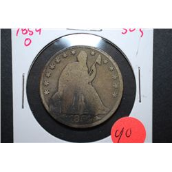 1854-O US Seated Liberty Half Dollar With Arrows; EST. $15-20