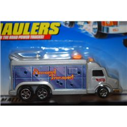1998 Mattel Hot Wheels Inc. Haulers Over The Road Power Trucks! Collectible Armored Transport Truck;
