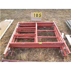 Qty 8 scaffold frames