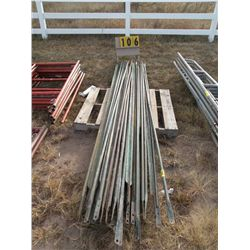 Pallet of scaffold side arms