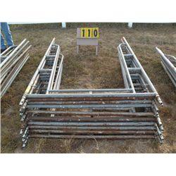 Qty 10 walk-thru scaffold frames