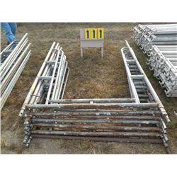 Qty 8 walk-thru scaffold frames