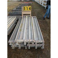 Pallet of 11 aluminum scaffold planks