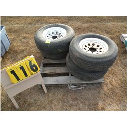 Qty 4 trailer tires -225/75R15