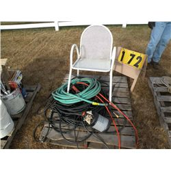 Pallet of air & water hose