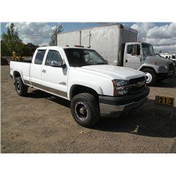 2003 Chev Silverado  Salvage Title, Inspection Done 1GCHK29163E231528