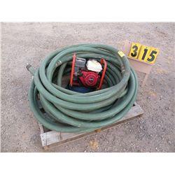 4hp Honda water pump w/inlet & discharge hose